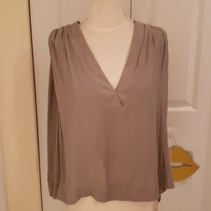 Free People Pale Green Short Sleeve Blouse